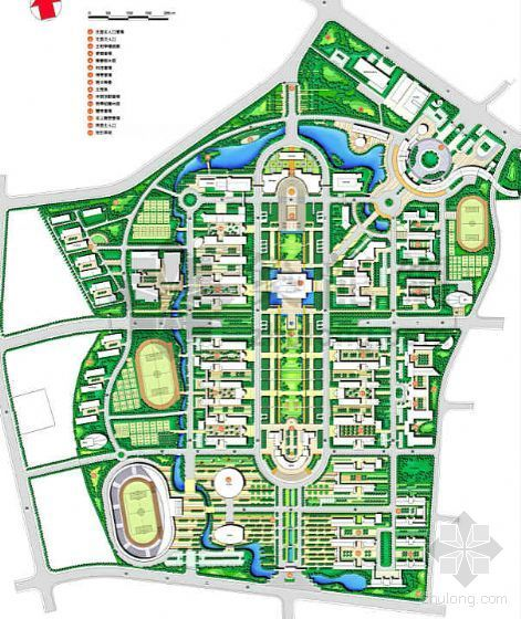 湖北武汉大学新校区景观设计方案