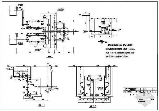 调节水池及升压泵房平剖面布置图
