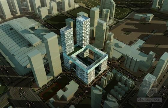 [深圳]现代风格玻璃幕墙超高城市综合体设计方案文本