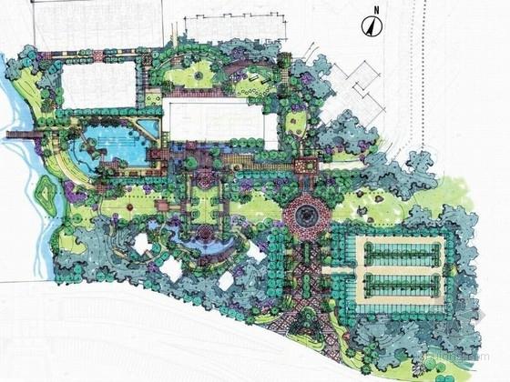 简约欧式居住区售楼中心景观概念设计方案