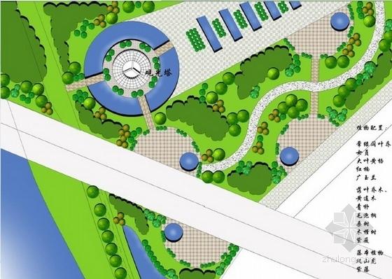 观光塔景观节点平面图