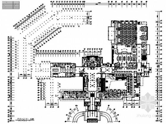 [云南]精品奢华五星级商务酒店大堂室内装修施工图(含效果)