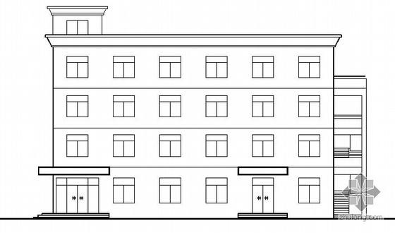 某四层框架综合楼建筑结构方案图