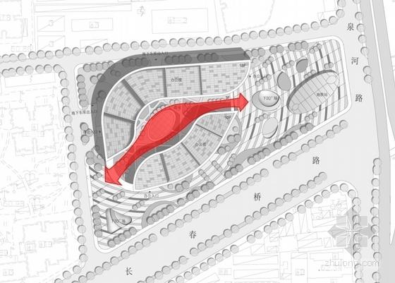 [北京]玻璃幕墙高层办公综合体建筑设计方案文本(多方案比对)-玻璃幕墙高层办公综合体分析图