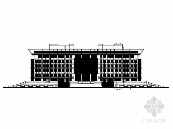 [山东]现代风格知名大学图书馆建筑设计施工图(知名设计院)