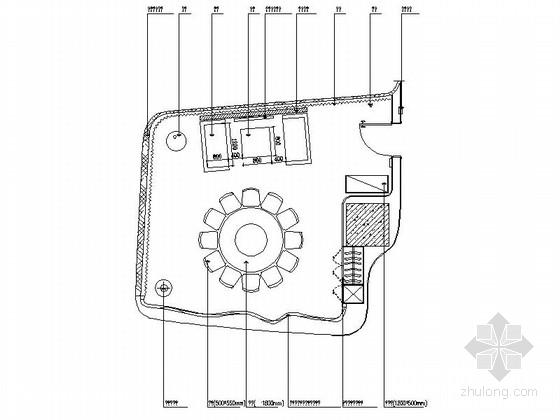 [湖南]现代风格餐厅包厢装修施工图(含实景)