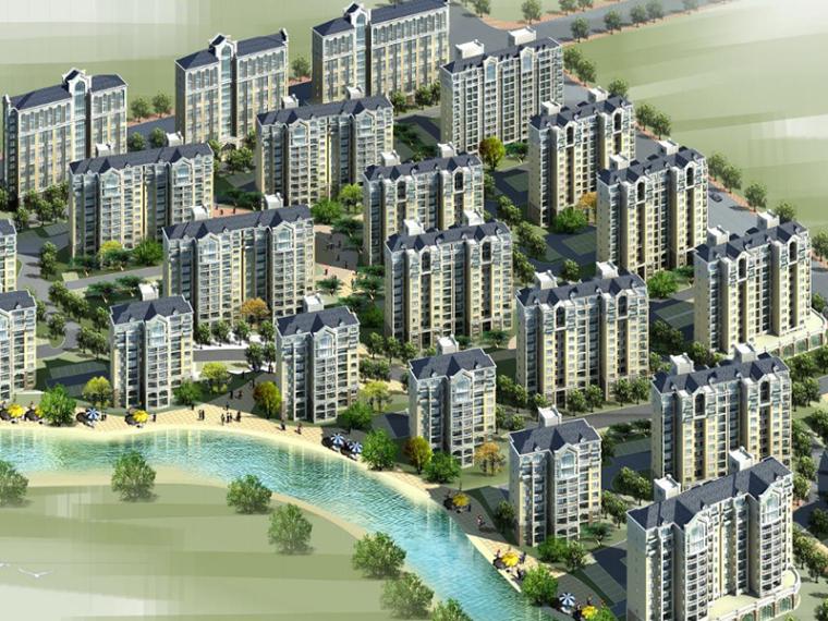[上海]张江高科苑简欧居住区规划建筑方案文本