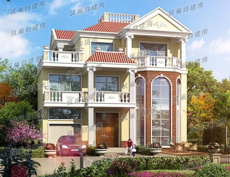 13x11三层农村独栋别墅设计图图片