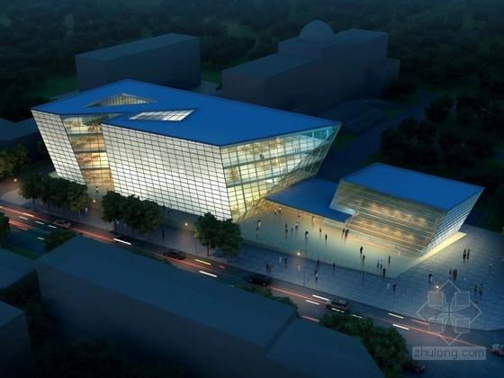 [四川]多层现代风格市级图书馆建筑设计方案文本(知名设计院 含CAD)