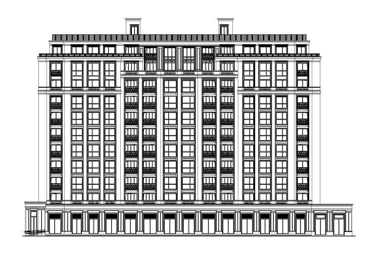 [广东]锦园华庭高层居住小区住宅楼及节点大样施工图(CAD)