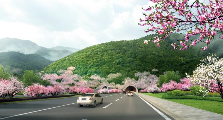 17套乡村道路景观效果图PSD素材(11)