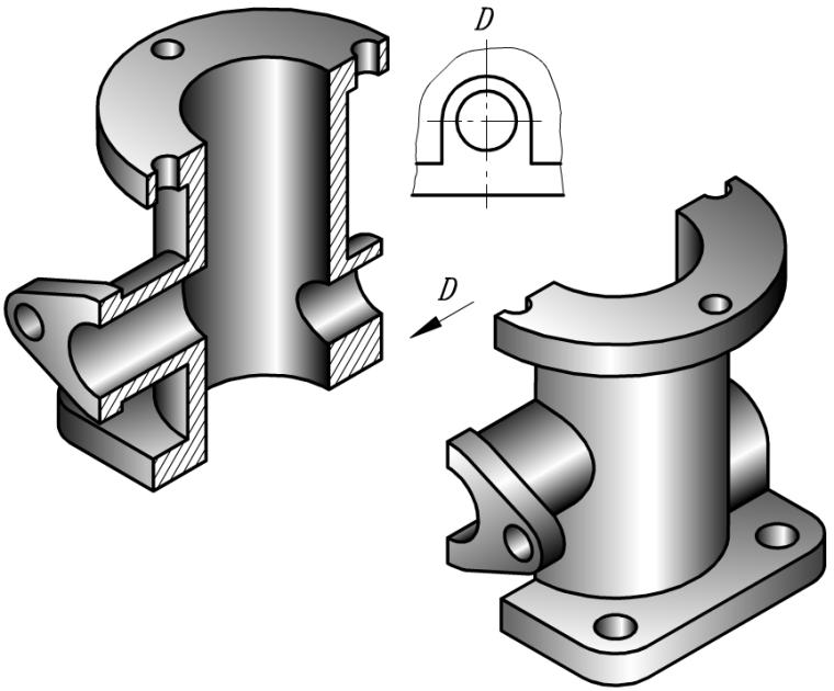 工程识图与AutoCAD之五机件的表达方法课件PPT(73页)