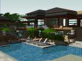 现代风格休闲度假别墅庭院景观设计模型
