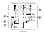 小户型现代时尚样板房设计CAD施工图(含效果图)
