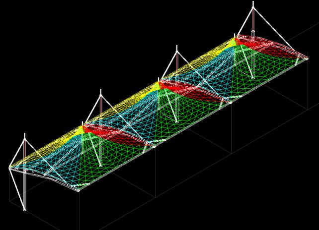 车棚膜结构设计与安装过程_3