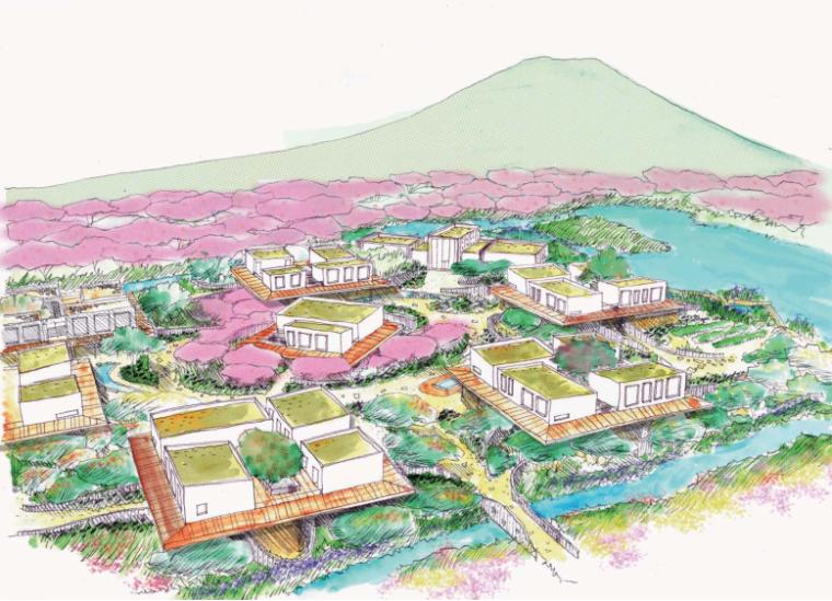 [广东]桃花岛花间堂温泉度假酒店景观概念设计(田园、诗意)