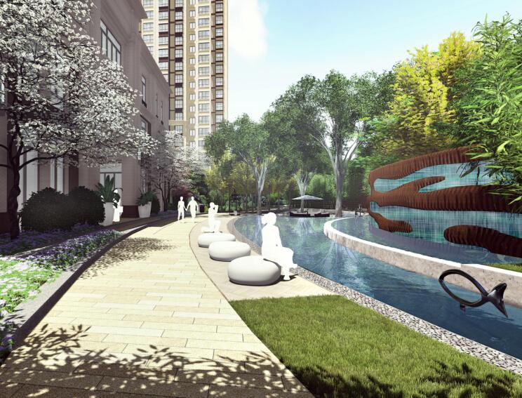 [北京]首开售楼处示范区及大区景观设计方案(简约、精致)