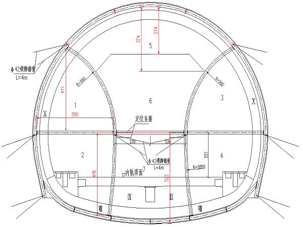 石鼓山隧道1#斜井兰州向双侧壁导坑法转三台阶临时仰拱法施工方案