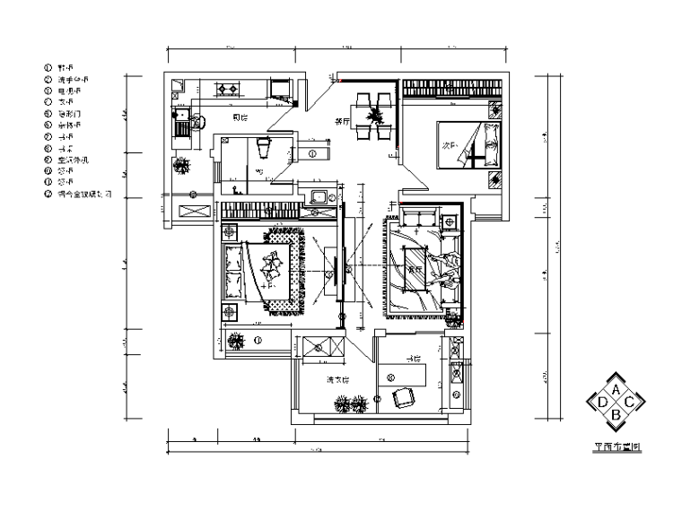 [湖南]现代风格复式楼设计CAD施工图(含效果图)