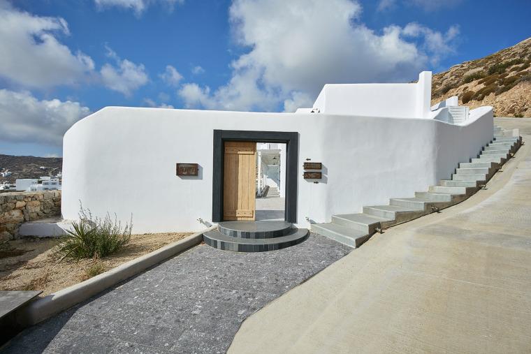 希腊私人海岸线的米科诺斯酒店
