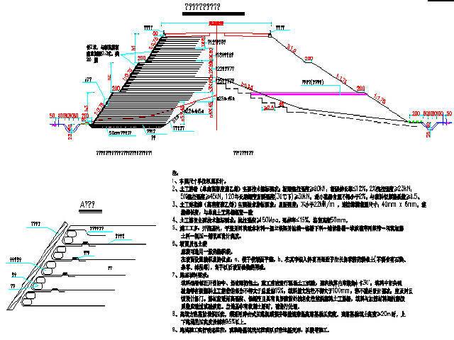 双向四车道高速公路道路基路面、排水、路基防护设计121张CAD
