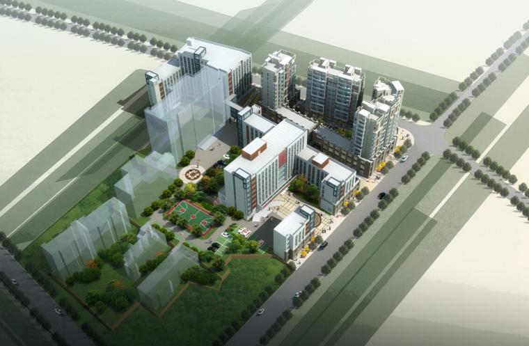[湖南]高层现代风格常规项人民医院建筑设计方案文本(CAD+文本)_1