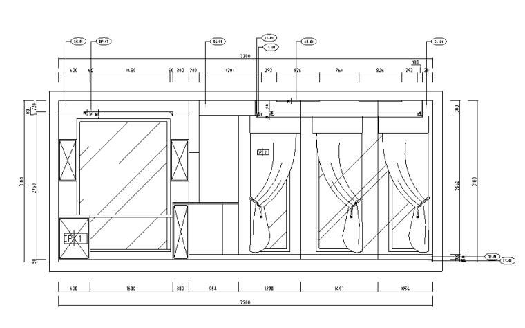 [河北]新古典风格三层别墅样板房施工图(含效果图)_4