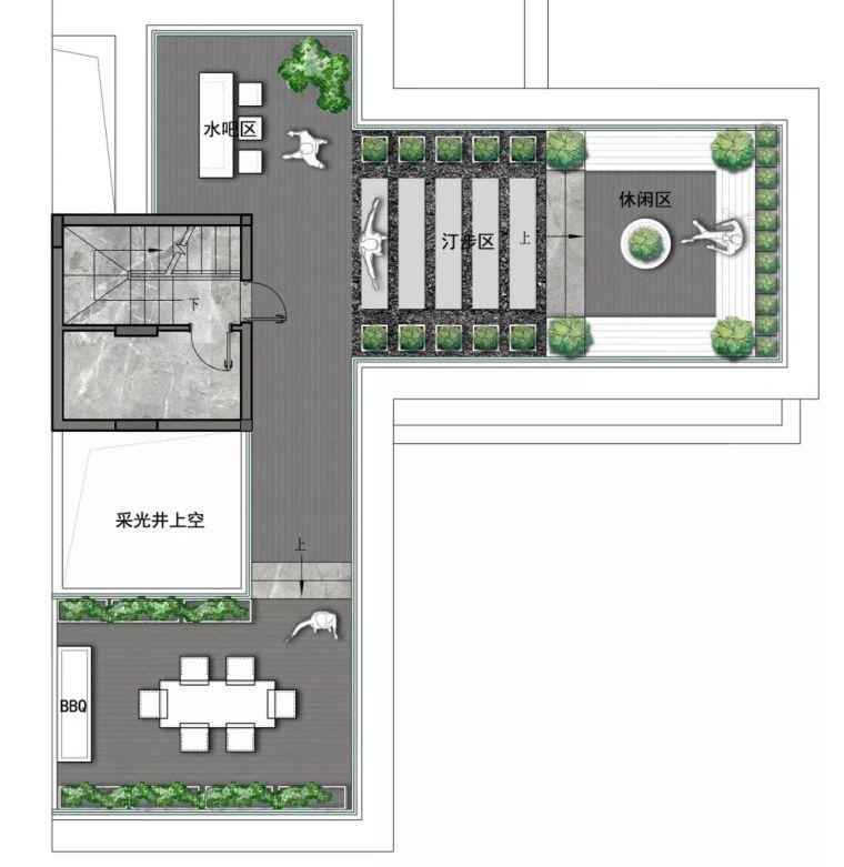 质朴材质也能构建空间气质,顶级别墅样板间设计_24