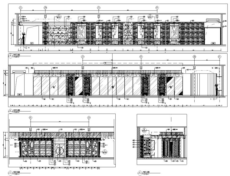 北京某五星酒店中餐厅室内设计施工图(含25张施工图)
