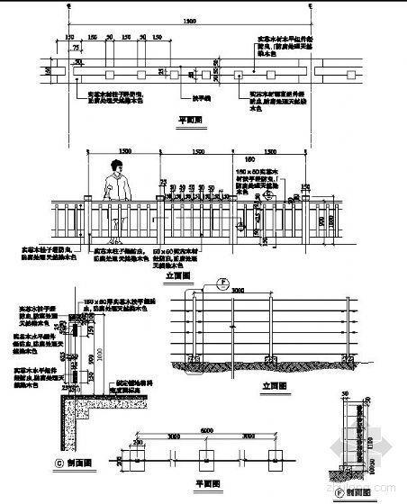 木制栏杆详细施工图