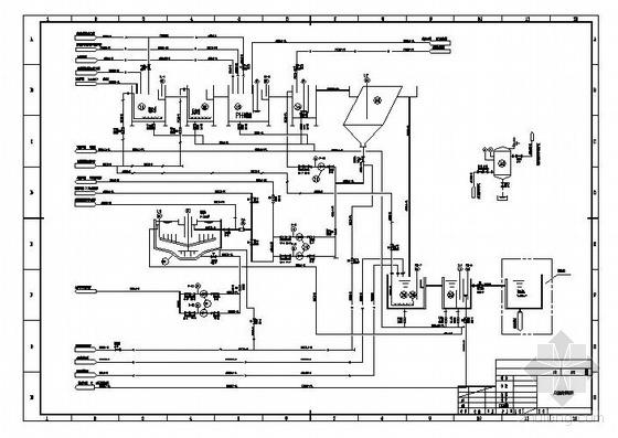 某电厂工业废水处理系统图