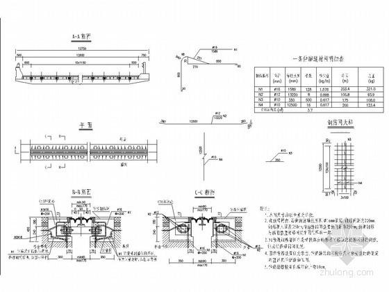 U型槽钢筋构造图资料下载-型钢组合伸缩缝构造图(D80型 D160型 D240型)