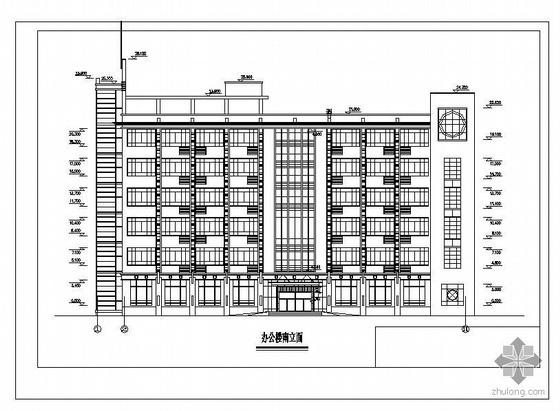 浙江某6层框架办公楼建筑结构图