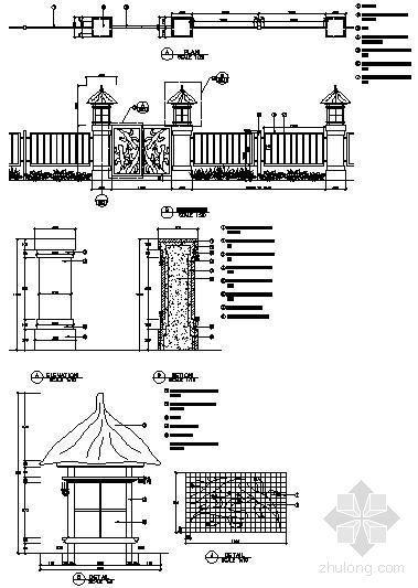 铁制围栏详图