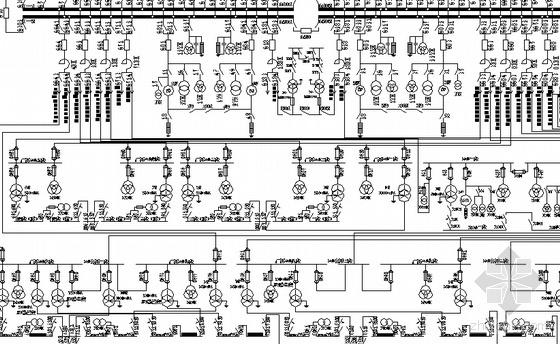 老式热电厂电气主接线图