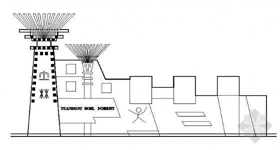 某景区大门建筑施工图
