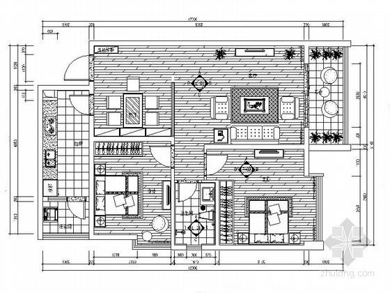 [河南]现代二室二厅家装装修图