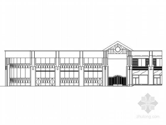[镇江]某居住区二层会所建筑施工图