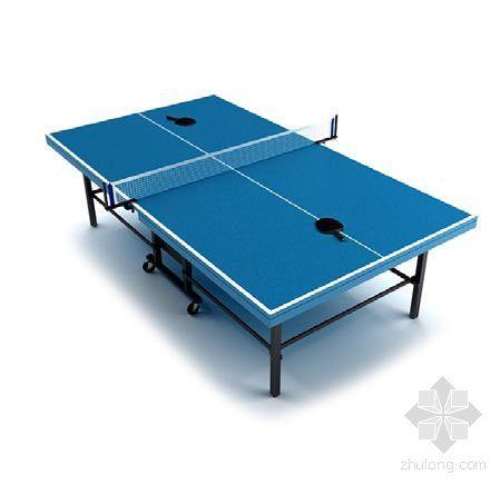 vray材质球素材资料下载-乒乓球桌1