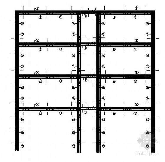 [学士]四层框架办公楼毕业设计(含计算书,建筑结构图)