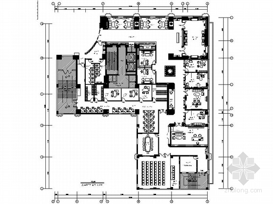 UPS插座布置资料下载-[郑州]精品现代风格全国连锁金融机构营业厅办公室装修施工图