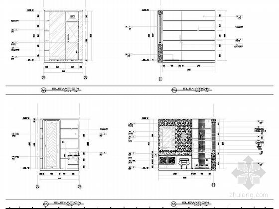 [浙江]现代风格三层别墅室内装修施工图卫生间立面图