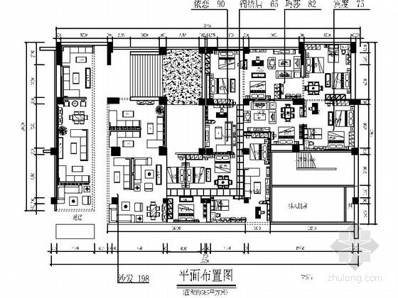 [贵州]知名品牌家具专卖店室内装修施工图