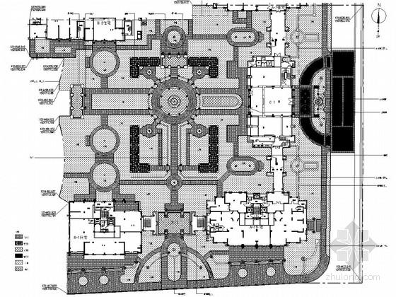 [北京]现代花园住宅样板区景观施工图(一)硬景设计