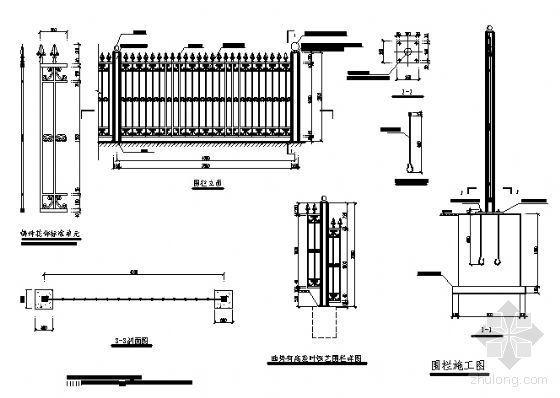 铁艺图栏设计详图