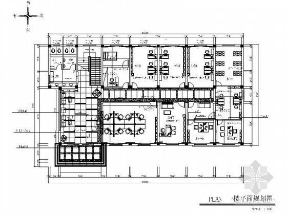 [扬州]某现代办公楼室内设计装修图(含效果)