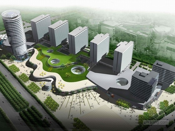 [广东]长廊并排式商业中心建筑设计方案文本