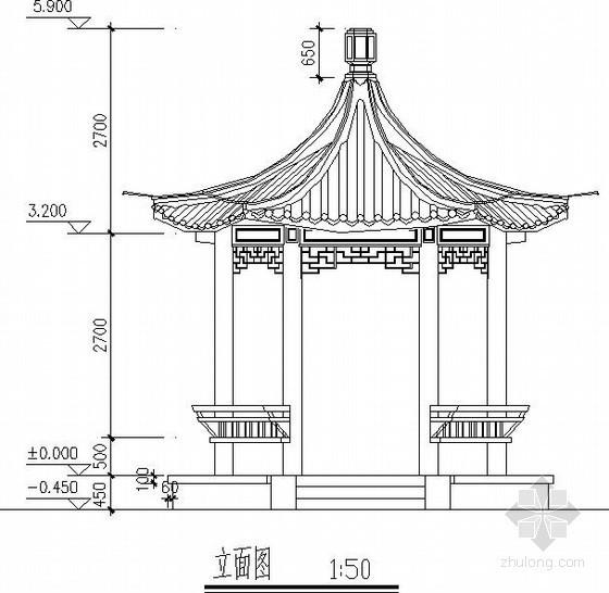 景区六角亭节点构造详图