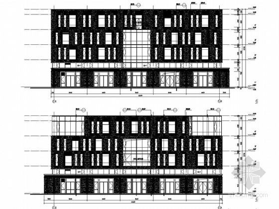 [上海]6栋框架剪力墙结构高科技园厂房结构图(含建筑图)