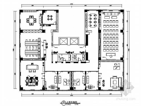 [烟台]大型高档住宅小区新中式办公空间装修设计方案